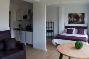 Apartamento 1 Acero y piedra